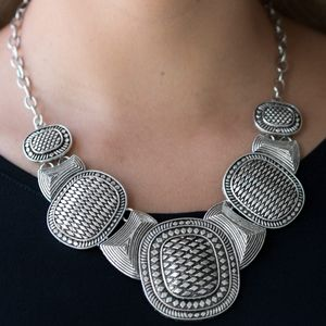 """Prehistoric Powerhouse"" - Silver Necklace Set"